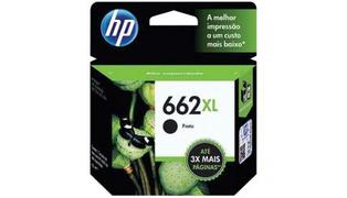 CARTUCHO P/ IMPRESSORA HP 662XL PRETO CZ105AB 6.5ML