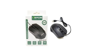 MOUSE OPTICO VERDE SB-S03 USB PRETO