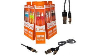 CABO P/ IPHONE 5/6 USB 1M LELONG - LE-825L