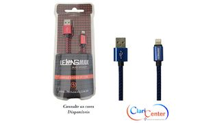 CABO P/ IPHONE 5/6 USB 1M LELONG - MAX-0309