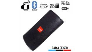 CAIXA DE SOM BLUETOOTH 10W C/ USB / CARTAO SD / AUX / FM CS-M33BT EXBOM - 3050