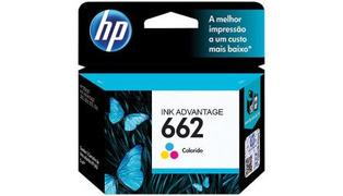 CARTUCHO P/ IMPRESSORA HP 662 TRICOLOR CCZ104AB 2ML