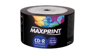 CD-R MAXPRINT 700MB/80MIN 52X (UNID)