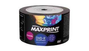 DVD-R MAXPRINT PRINTABLE 4.7GB/120MIN 8X (UNID)