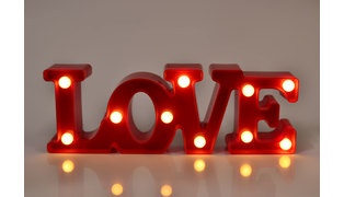 LUMINARIA LOVE LED LUMINOSOS 29X10CM - PILHA
