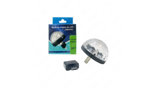 MINI BOLA MAGICA LED PORTATIL USB P/ CELULAR (LAM-8180)