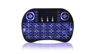 MINI TECLADO WIRELESS LUMINOSO C/ LED (OLT) (B)