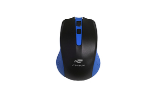 MOUSE C3TECH SEM FIO WIRELESS M-W20BL USB 2.4GHZ AZUL