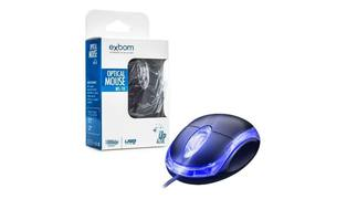 MOUSE USB OPTICO C/ LED 1000DPI MS-9