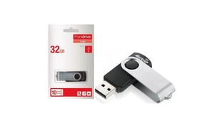 PENDRIVE 32GB MULTILASER USB 3.0 TWIST PRETO - PD989 (OLT)