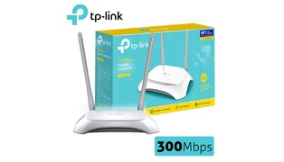 ROTEADOR WIRELESS - TP LINK TL-WR840N 300 MBPS (2 ANTENAS)