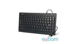 TECLADO MULTIMIDIA MINI USB EXBOM BK-M57 PTO